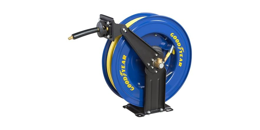 retractable air hose reel goodyear retractable air hose reel 29036