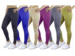 Womens 3PK ASST Stretch Leggings