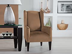 Wingback Stretch Fit Slipcover- Multiple Colors