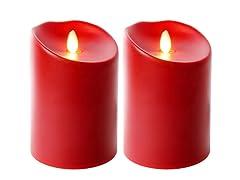 """5"""" Indoor/Outdoor Flameless 2Pk - Red"""