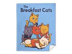 The Breakfast Cats Mink Fleece Blanket