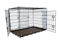 Foldable Double Door Training Crate with Divider