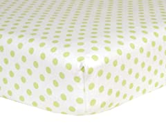 Sage Dot Flannel Crib Sheet