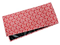 Small Damask Table Runner-Red