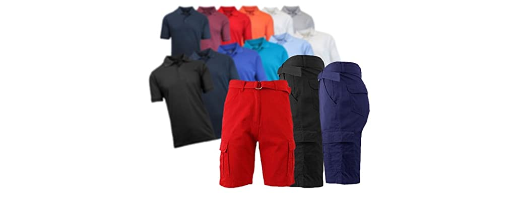 BLU ROCK Men's Polos and Shorts