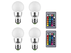 3W Color Changing Light Bulbs (4-Pack)