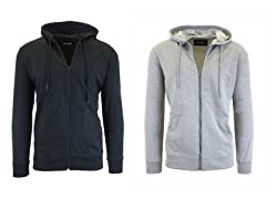 Men's French Terry Zip Hoodie 2-Pack