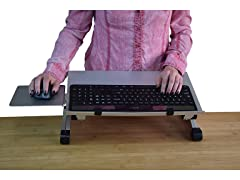 Uncaged Ergonomics Adjustable Keyboard Tray Silver