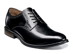 NUNN BUSH 84625-001 Sz 8.5 BLACK RIGGS PLAIN TOE OXFORD