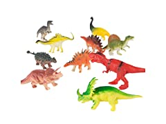Toy Dinosaur Figure Set for Boys and Girls (Pack of 10)