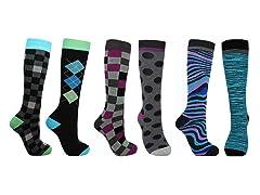 Minx NY 6-Pack Men's Socks