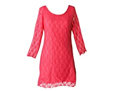 Star Vixen Lace Dress, Fuschia