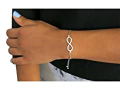 Silver Adjustable Infinity Bracelet