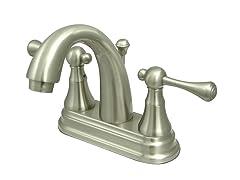 Lavatory Faucet, Satin Nickel