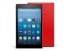 """Amazon Fire HD 8"""" (2017) 32GB Tab Red"""
