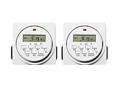 Dual Outlet Digital Program Timer 2pk