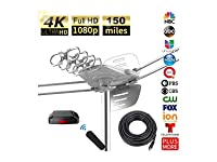 Deals on 1byone 6-202NA-001 Outdoor Digital Amplified HDTV Antenna