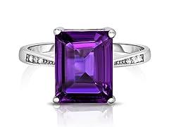 4.00 CTTW Genuine Amethyst Ring