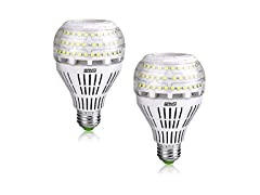 SANSI 27W 5000K Non-dimmable LED Bulbs, 2-Pack