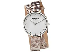 Akribos XXIV Women's Double Wrap Lizard Watch