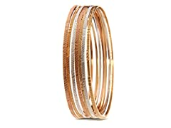 18kt Plated XOXO Design Bangle 7-Pack