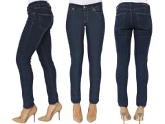 M2F Indie Skinny Dark Wash Denim, Blue