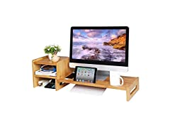 SONGMICS Monitor Stand with Storage Organizer