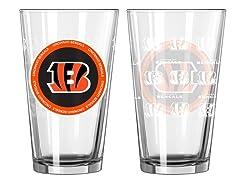 Cincinnati Bengals ROH Pint Glasses (2)