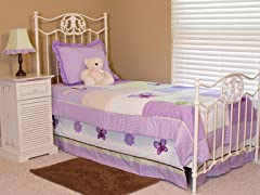 Lavender Butterfly 3-Piece Twin Bedding Set