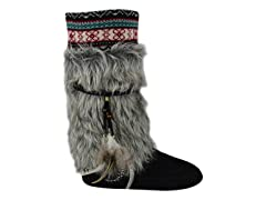 MUK LUKS ® Women's Elana Faux Fur Boot, Grey