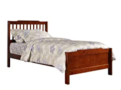 Captain Twin Bed Mahogany