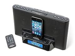 Speaker Dock w/ Alarm Clock & Radio