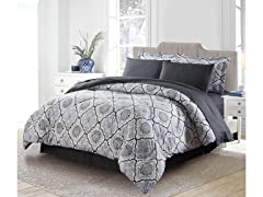 Bibb Home 4137 Queen 8 Pc  Down Alternative Comforter Set