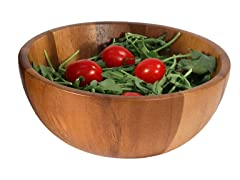 W&C Acacia Wood Individual Salad Bowl, 6.5""