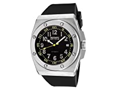 Men's Auto Black Dial / Black Rubber