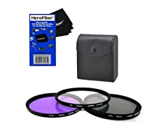 Xit 72mm 3pc Camera Lens Filter Set- 2pk