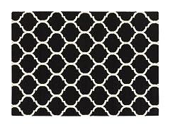 Black Geometric Hand Woven Rug