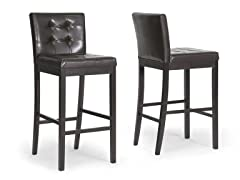 Prospect Brown Bar Stool- Set of 2