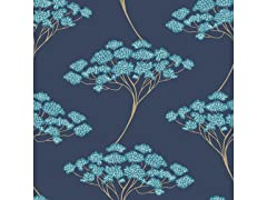 Blue Ficus Peel & Stick Wallpaper