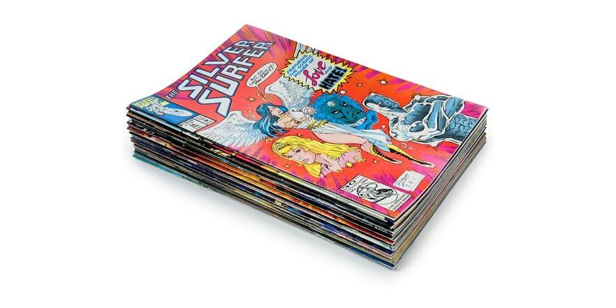 25 Random Comic Book Bundle & Bonus 10 Collector Card Packs