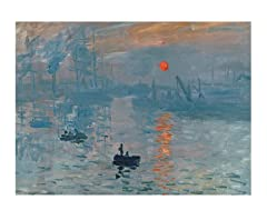 Claude Monet Impression Sunrise - Canvas Art