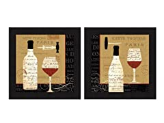 Evening in Paris 2PC Set Framed 16x16