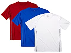 Men's 3-Pack Short Sleeve Mesh Tee