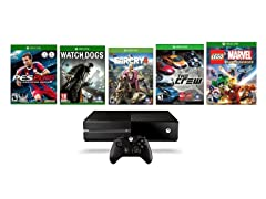Xbox One 1TB with 5 Games