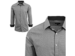 GBH Men's LS Houndstooth Dress Shirt
