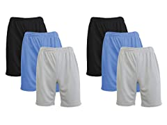 Men's 6PK Active Performance Mesh Shorts