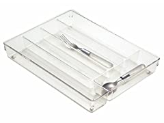 InterDesign Linus Clear Cutlery Tray