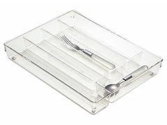 InterDesign Linus Clear Cutlery Tray