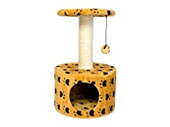Paw Print Sisal Cat Scratch Condo - 2 Colors