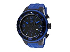 Men's Neptune Chronograph, Black / Dark Blue